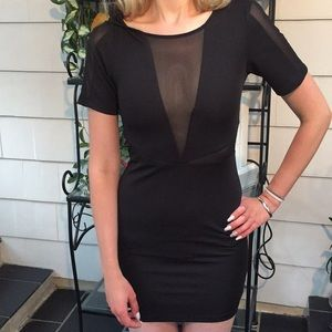 Lucca Couture Black Minidress Size Small